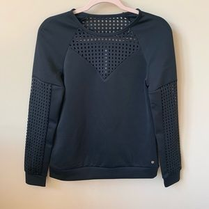 NWT! Fabletics black athletic top #136
